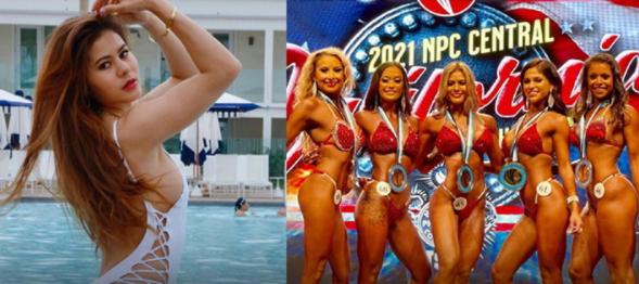 """Jill"" Thai female bodybuilding won 2 awards at NPC 2021"